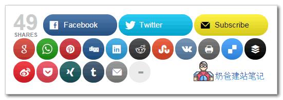 社交媒体共享按钮| MashShare