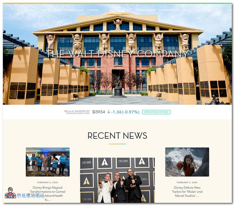 沃尔特迪斯尼公司的官方网站